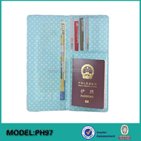 RFID personalized passport wallet case leather passport bag