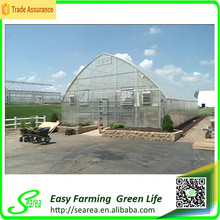 PC covering single span hothouse/glasshouse