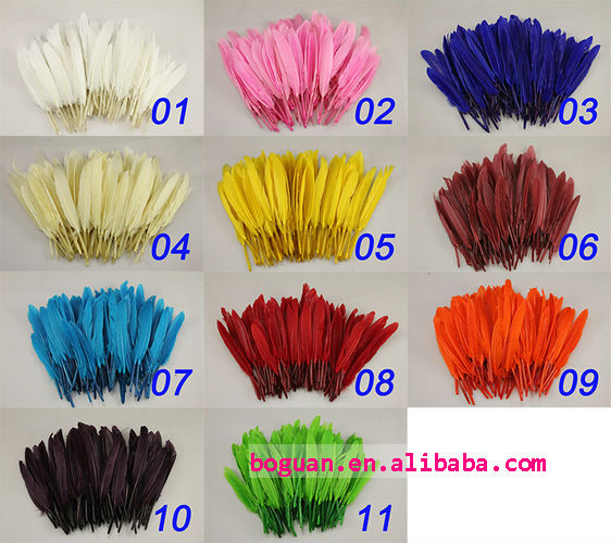 dyed arrow duck feather for sale