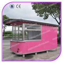 2015 hot sales best quality fast bbq food van with wheels best bbq food van designing