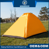 Camouflage Fabric 230*165*130cm Double Layers Family Equipment Camping Tent For 2-3 People