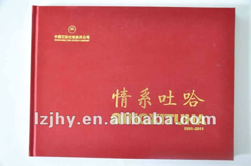 cloth cover and hot stamping photo books printing