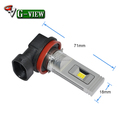 G-View Auto Parts 12v h8/h11/h16 auto car Led fog light bulb Hot Selling Japan America
