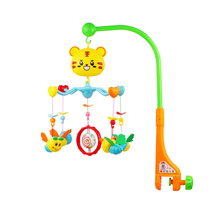 hot sale plastic EN71 tiger figure cartoon baby mobile with cute hanging toys
