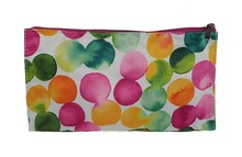 Colorful Pink Green Orange Yellow Dot Cosmetic Travel Makeup Bag