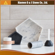 100% Natural Stone Hexagon Marble Tray