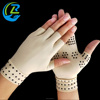 Nylon dot compression half finger arthritis gloves fingerless