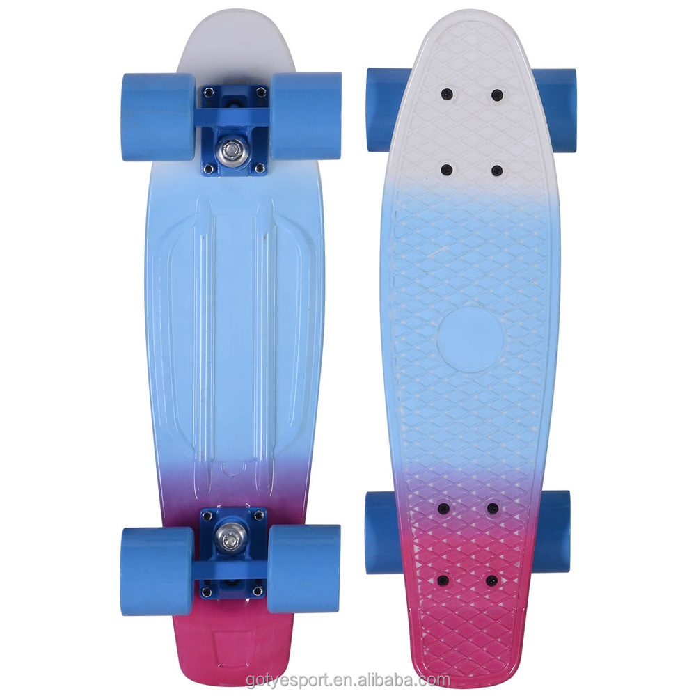 2206 22x6inch 4 PU Wheels Plastic PP Skateboard with PP Deck
