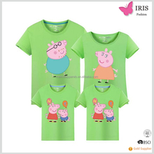 100%cotton litter pink pigs designs kids t-shirt,casual clothes , child short-sleeve shirt