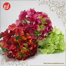 SFL4144 Artificial flower ornament fake plants and flowers silk hydrangea with faux leaves for home indoor decoration