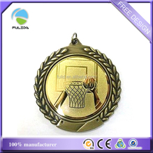 Cheaper Metal Blank Aluminum Sheet Laser Engrave Sticker Insert Basketball Medal