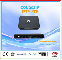 VOD & Live streaming media Server integrated IP TV Set top boxes with Wifi COL2021P