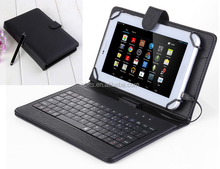 "7"" PU Leather Stand Case + Micro USB Keyboard with Touch Screen Stylus Pen for 7 inch Android Tablet"