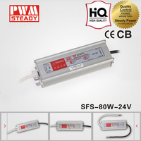 Constant voltage 24V 3.3A ip67 waterproof power supply 80W electronic led lights driver SFS-80-24