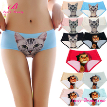 2017 Hot selling full colors seamless cute women cat underwear