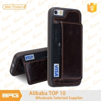 BRG Shenzhen Mobile Phone Leather Credit Card Holder For iPhone 5 Case Accessories