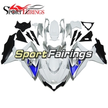 Injection ABS Plastic White Silver Blue Fairings For Suzuki GSXR600 GSXR750 K8 08 09 10 Complete Motorcycle Fairing Kit Fittings