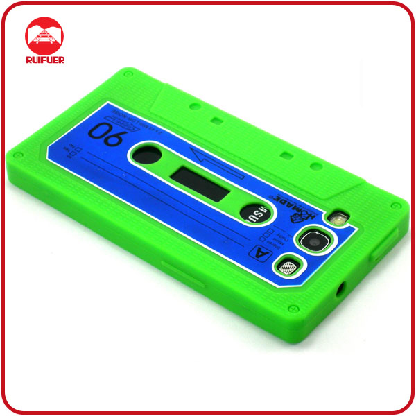 Popular Soft Cassette Tape Silicone Phone Case for Samsung Galaxy S3