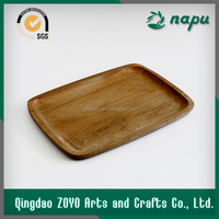 Small size retangle wooden serving tray