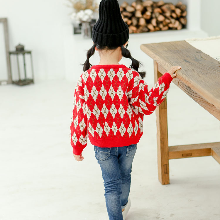 Long Sleeve Girls Sweaters 2019 Spring and Autumn Baby girl Sweater Children Cardigan Sweaters