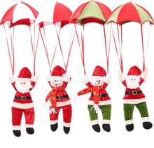 2017112209 Faithidmarket Christmas Tree Hanger parachute jumping (only craft, not real) Santa Clause and Snowman 4 designs stock