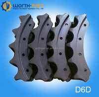 bulldozer/Dozer chassis spare parts D6D sprocket segment group