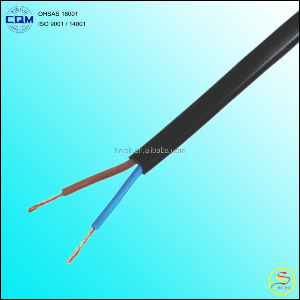 1.5mm2 2.5mm2 4mm2 ,2 Cores PVC Insulated Copper Flexible Cable