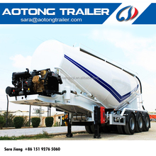 cheap price Tri-axle 30-60CBM cement powder tank transport widely used bulk cement tanker truck