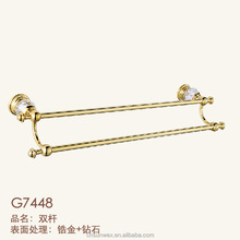Crystal Golden Bathroom Towel Bar Double Towel Bars Towel Holder