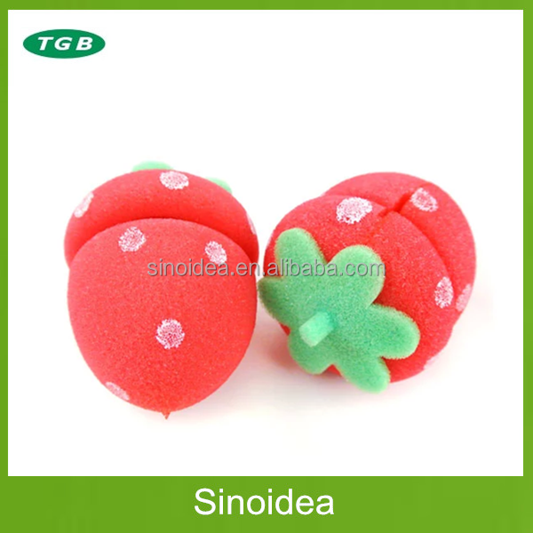 Magic Strawberry shape sponge hair roller/Flexible curler hair