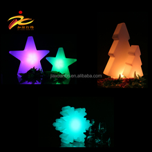 RGB color changing plastic star decoration,led star lighting,led decoration lighting