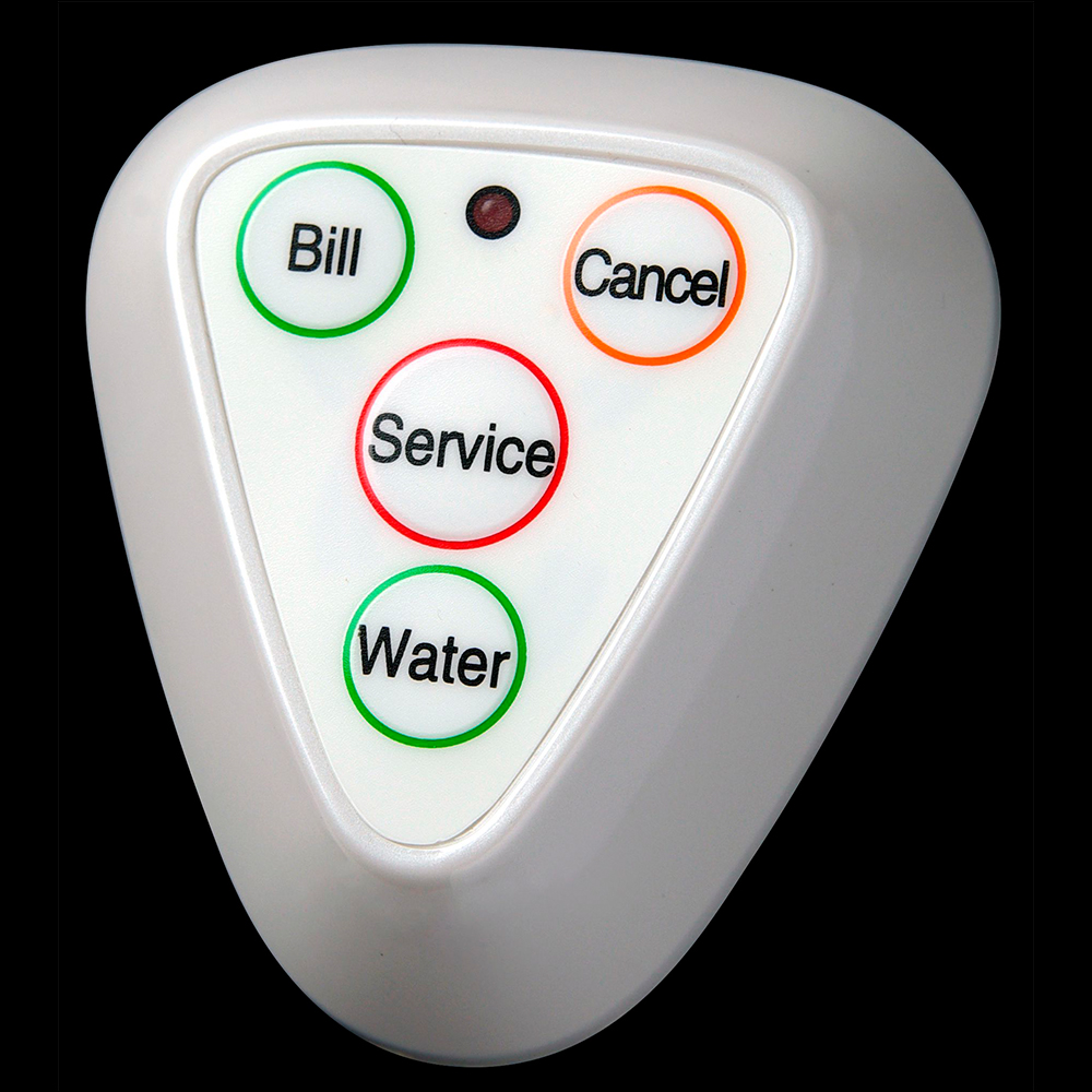 4 functions call waiter button restaurant table fixed