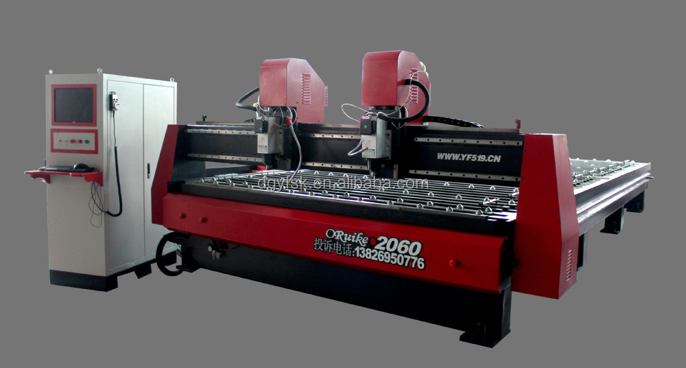 pneumatic table cnc lathe machine two heads cnc 2060 metal machine
