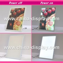 Hot sales product white plastic photo frame led magnetic lighted display crystal trace light box