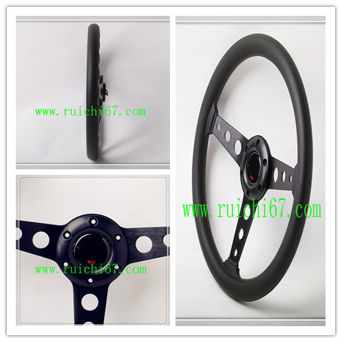 Universal Sports Style Steering Wheel /PU 360mm Leather Steering Wheel /OEM China Factory Brand Steering Wheel (5136)