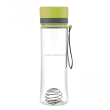 Dual Threat Fitness club shaker bottle protein powder Mixer Water Cup with Double Storage Compartment with wire whisk mixer ball