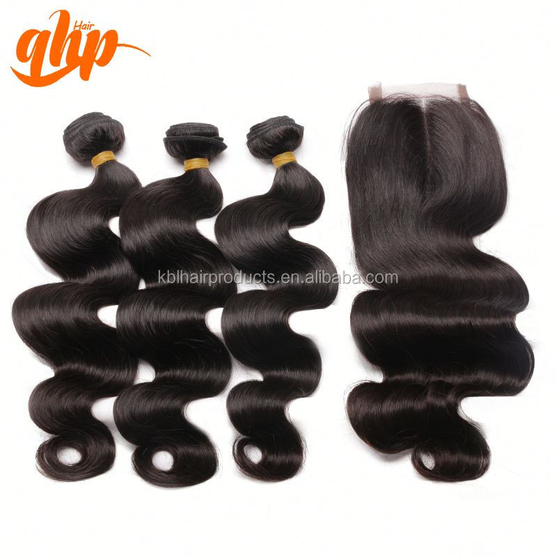 QHP remy extension weave 100% beautiful virgin indian human hair