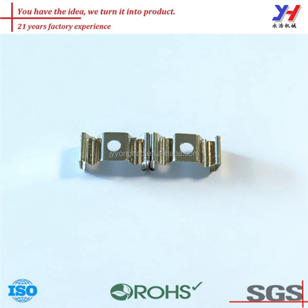 ISO9001:2008 Qulified Hardware Factory High Quality Custom Steel Alloy Clamp Bracket With Nickel Plating