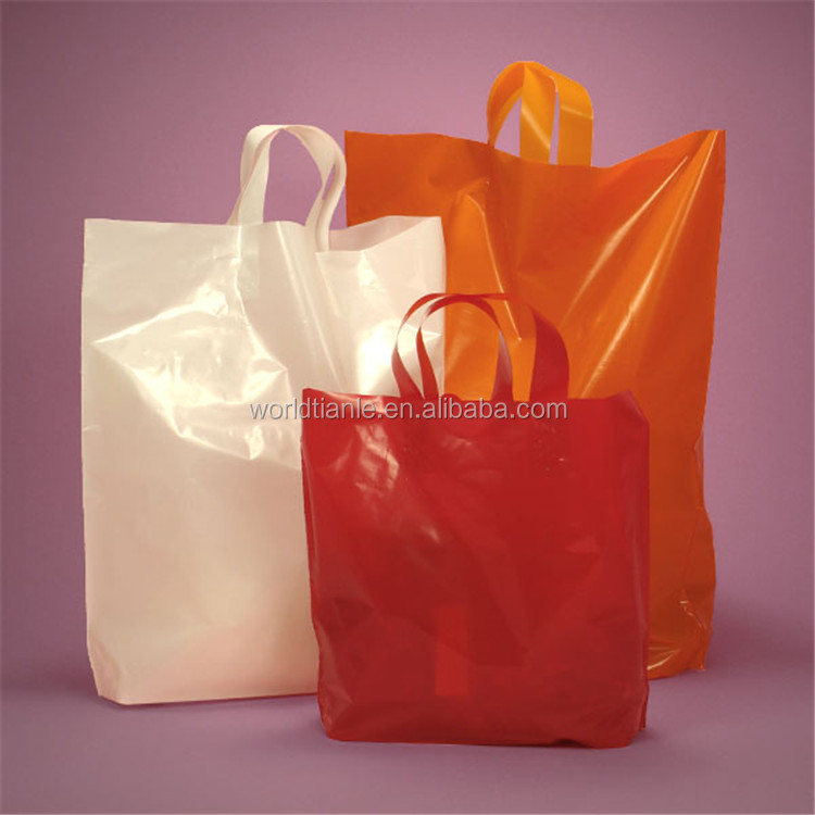 product profile of a plastic shopping bag hdpe Plastic shopping bags  ldpe white printed plastic shopping bag/promotion bag/merchandise bag/die cut handle bag hdpe plain plastic t-shirt  matching product.