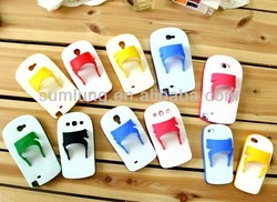 "2013 Newest Slipper Style Silicone Lighter Funny Mobile Phone Cases for SUMSUNG S4/9500 ""11"""