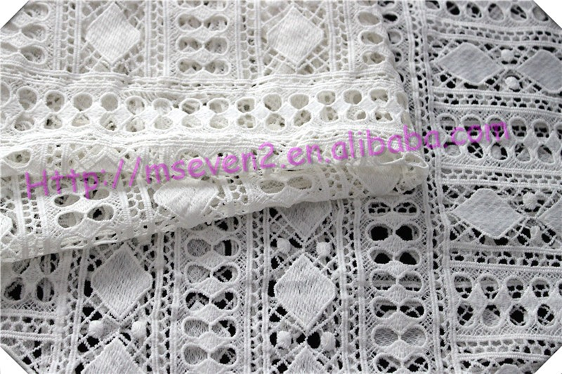 New design rayon Polyester fabric wholesale, white Polyester with hollow design fabric