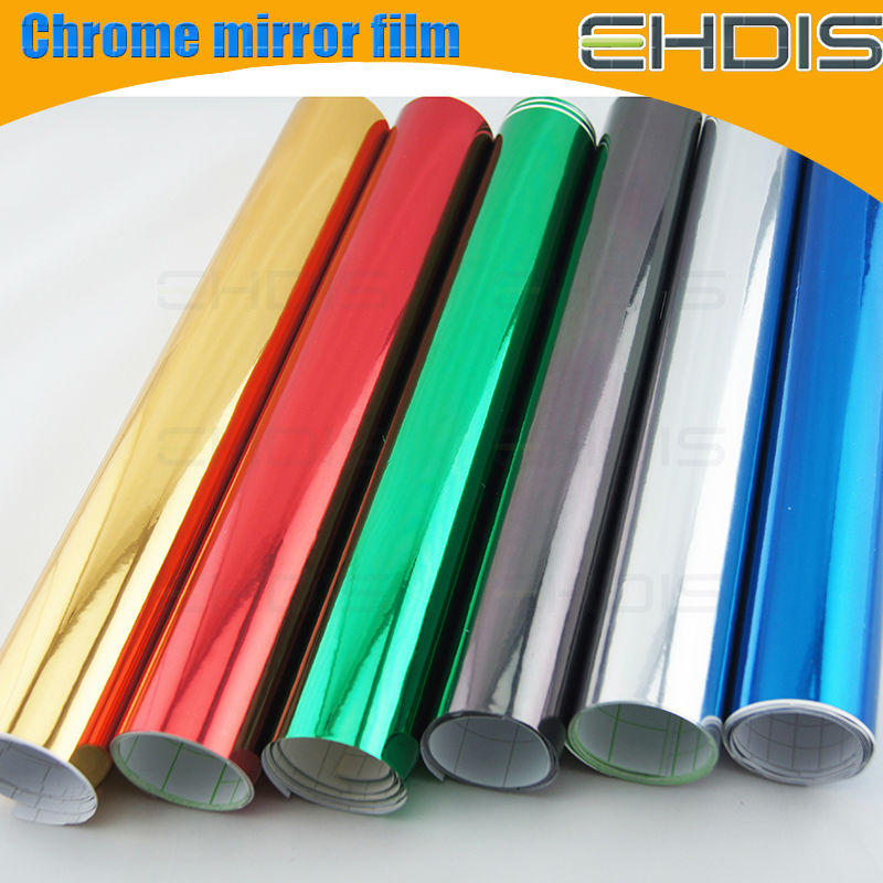 chrome auto vinyl film silver reflector film with air drian with size 1.52x30m each roll