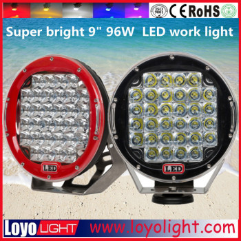 "auto accessories 9"" 96w led work light bar used for utv, atv, 4x4 offroad, jeep, truck"