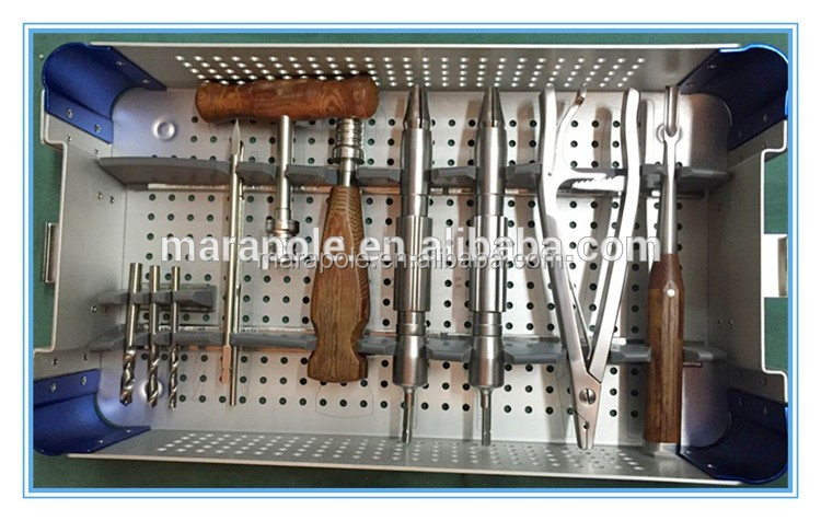 basic orthopedic instruments Interlocking Nails Instrument Set, Trauma surgery, orthopaedic instruments extraction screw broken
