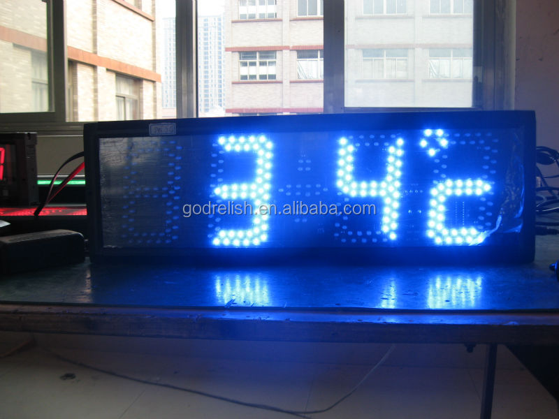high quality super brightness blue outdoor temperature sensor <strong>led</strong> <strong>display</strong>