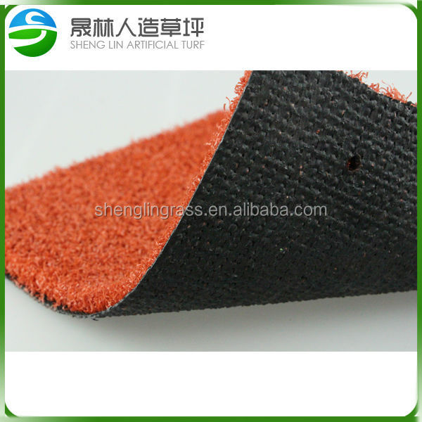 Cheap artificial red grass for swimming pool carpet cricket pitch mats mini golf putting green