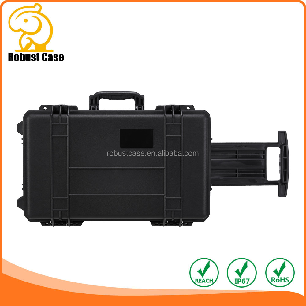 Black China Manufacturer Waterproof Rugged Plastic Case with Foam RC2666 576*362*216mm