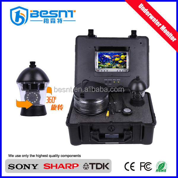 High Definition Night Vision Fishing Camera 20m Cable 360 degree waterproof 30 meter underwater camera with DVR(BS-ST20A)