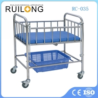 Cheap Stainless Steel Hospital Baby Trolley Wholesale