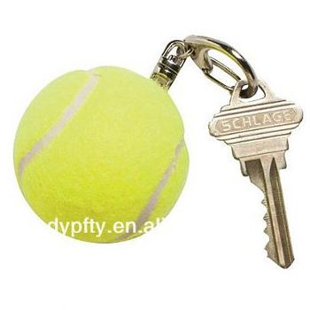 promotional pink tennis ball keychain
